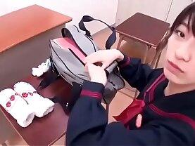 Japanese Schoolgirl Sucking on Nipples Full video