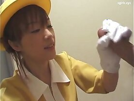 Japanese with white gloves uncensored