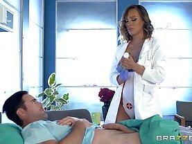 Dirty nurse Kiera Rose gets some big dick