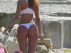 Hot Topless Amateur lesbian Teens Voyeur Beach Photo Session
