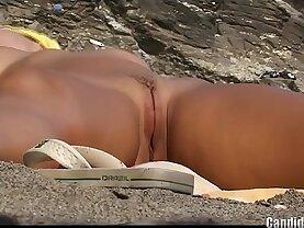 Hot Shaved Pussy Nudist Milfs Beach Voyeur HD Video