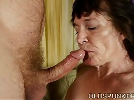 Cock for hungry old spunker is a super hot fuck