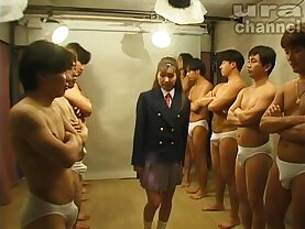 Bukkake Highschool Lesson Japanese uncensored blowjob