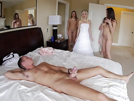 Foursome with the bridesmaids