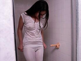 Sister Pratt in the shower