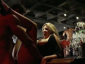 Wild sex party in a male strip club